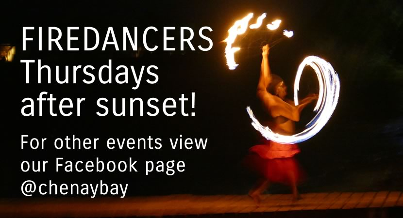 fire dancers at Chenay Bay Beach Resort St. Croix US Virgin Islands